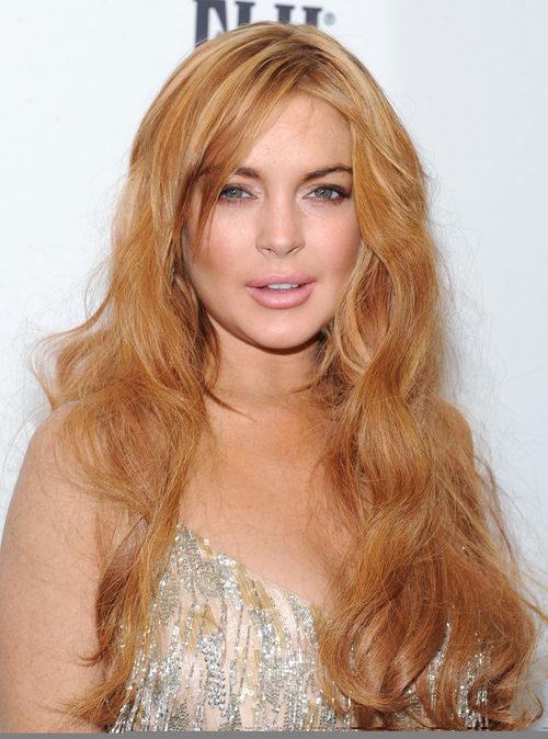 Lindsay Lohan con el pelo suelto