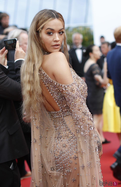 La cantante Rita Ora en el  Festival de Cine en Cannes