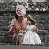 Kate Middleton durante la boda de su hermana