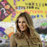 Melania Trump acude a un colegio en Arabia Saudí