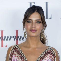 Sara Carbonero con maquillaje en tonos rosas y coleta despeinada