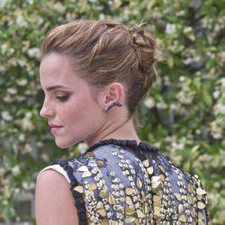 Emma Watson con recogido con trenzas