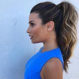 Lea Michele con coleta alta ondulada
