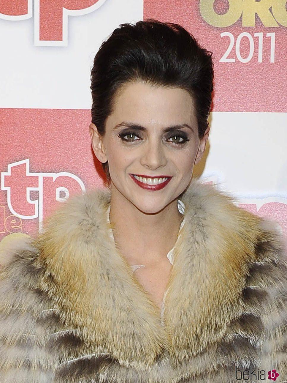 Macarena Gómez con pelo corto con tupé