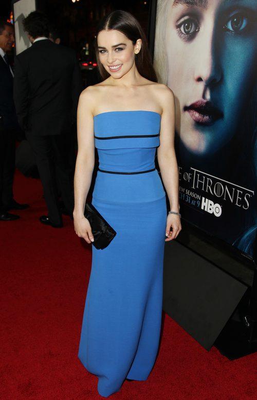 Emilia Clarke, en la premiere de la tercera temporada de 'Juego de Tronos'