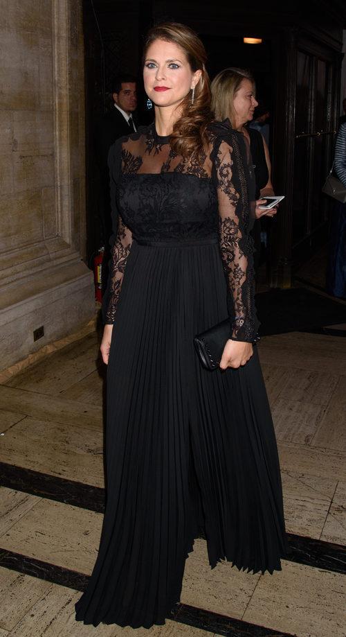 La Princesa Magdalena de Suecia con un beauty look de gala en Nueva York