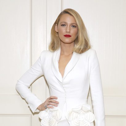 Blake Lively con el pelo recogido en la premiere de 'All I see is You' en Los Ángeles