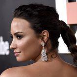 Demi Lovato con pestañas de vértigo en la presentación de su película 'Demi Lovato: Simply Complicated'