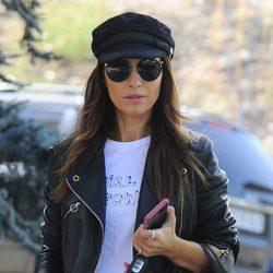 Paula Echevarría con look rockero en Madrid