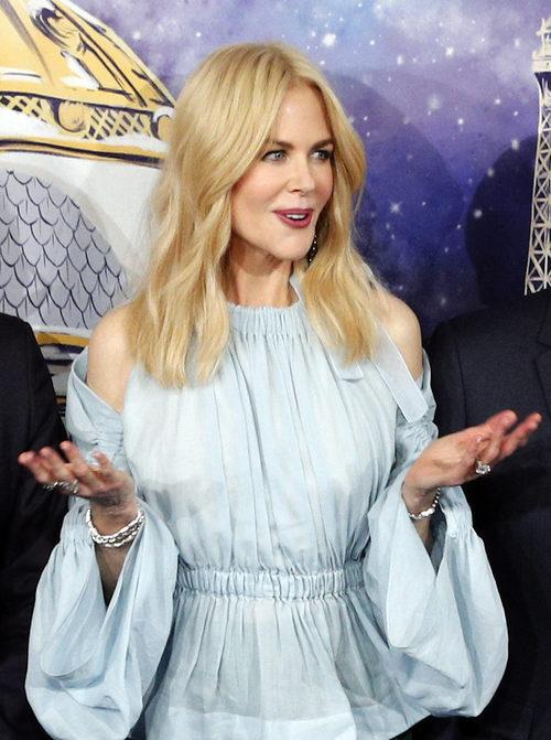 Nicole Kidman en la inauguración del escaparate navideño la tienda francesa 'Le Printemps Haussmann' en París