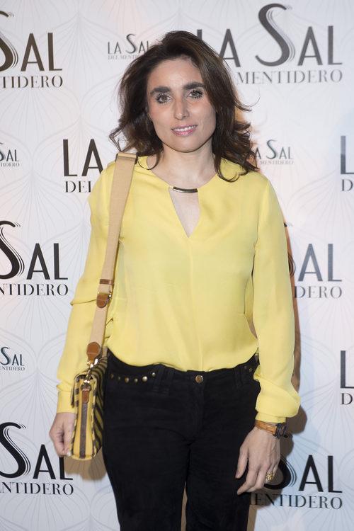 Paloma Segrelles en la inauguración 'La sal del Mentidero' en Madrid