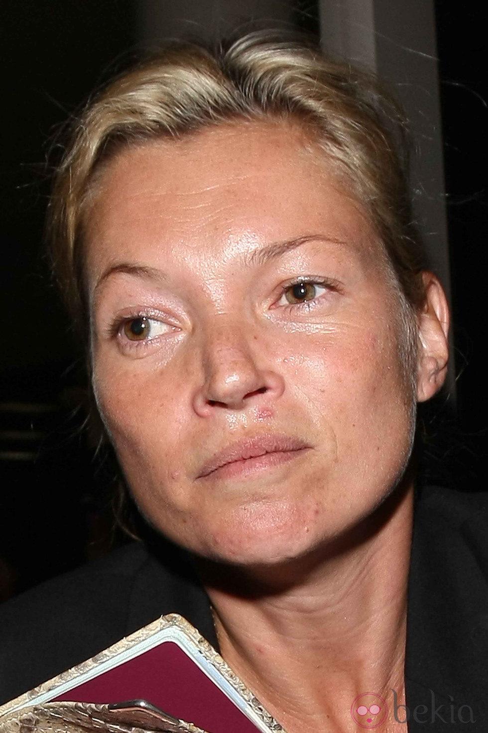 Kate Moss sin maquillaje