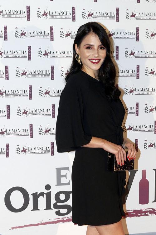 Andrea Duro durante un acto del vino de La Mancha denominación de origen en Madrid