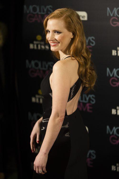 Jessica Chastain radiante en la Premier de 'Molly's Game' en Madrid