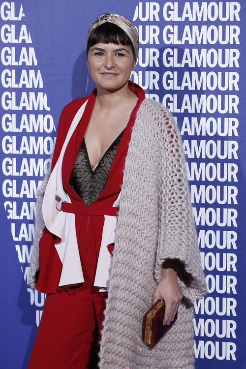 María Barros con un turbante en los Premios Revista Glamour