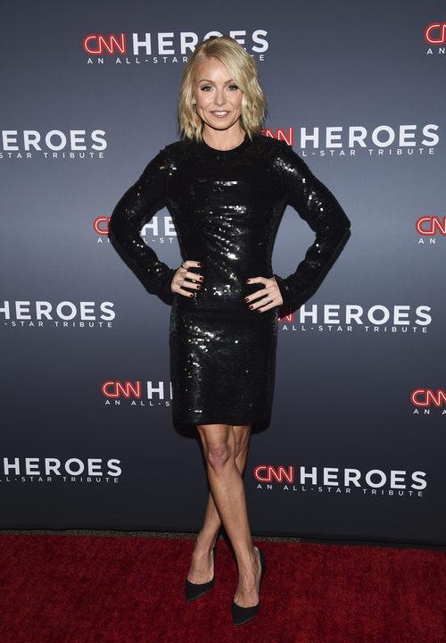 Kelly Ripa con un vestido de lentejuelas en la 11 edición Heroes de la CNN en Nueva York
