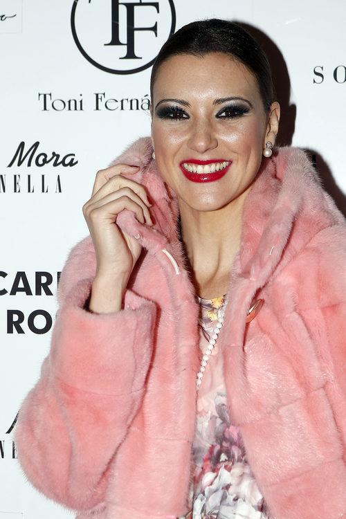 María Jesús Ruiz con ahumado negro y plateado en Madrid