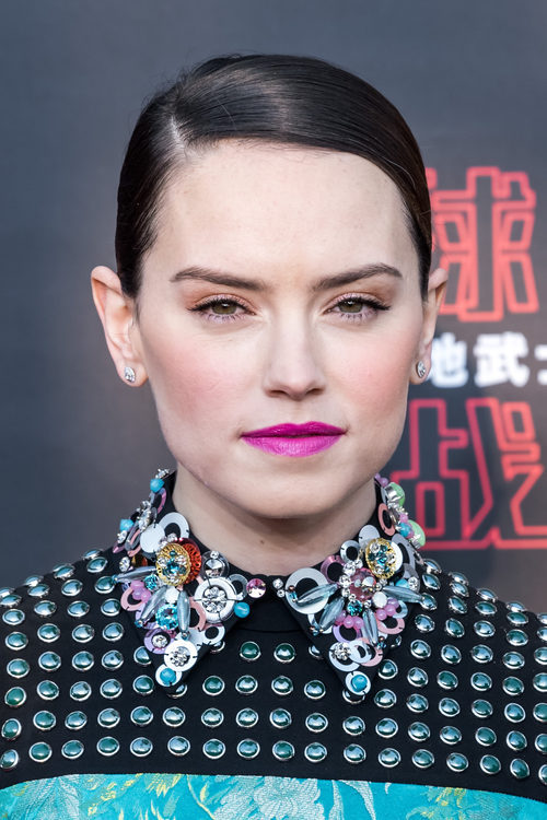 Daisy Ridley en la premiere de la película 'Star Wars: the last Jedi' en Shanghai