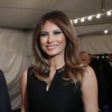 Melania Trump con su beauty look habitual en la misa de Nochebuena