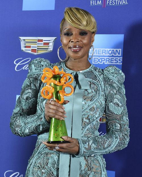 Mary J. Blige con demasiados brillos en el Festival de Palm Springs