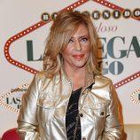Lydia Lozano con la piel muy anaranjada en una cena de Sálvame en el bingo Las Vegas en Madrid