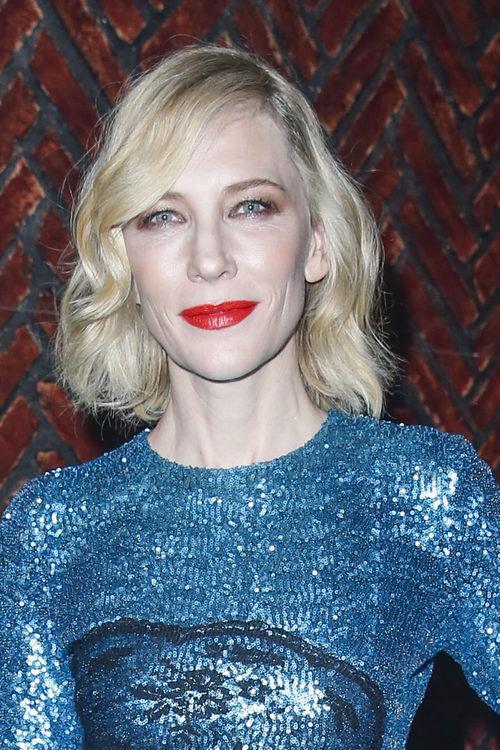Cate Blanchett sombra de ojos marrón