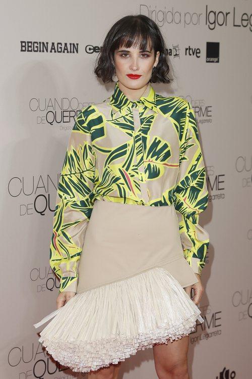 Florencia Torrente con una sombra de ojos ocre en el estreno de 'Cuando dejes de quererme'