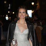 Vanesa Romero con un maquillaje en tonos pastel y un recogido en los Premios Fotogramas de Plata 2017