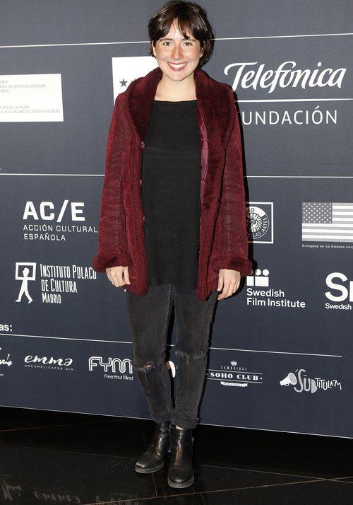 Macarena Sanz con el pelo corto y sin maquillar en la inauguración del festival de cine por Mujeres en Madrid