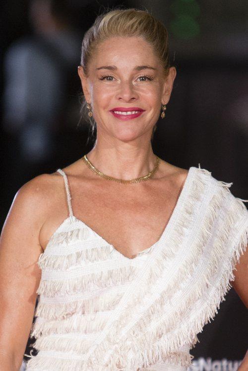 Belén Rueda con un recogido en el Festival de Málaga 2018