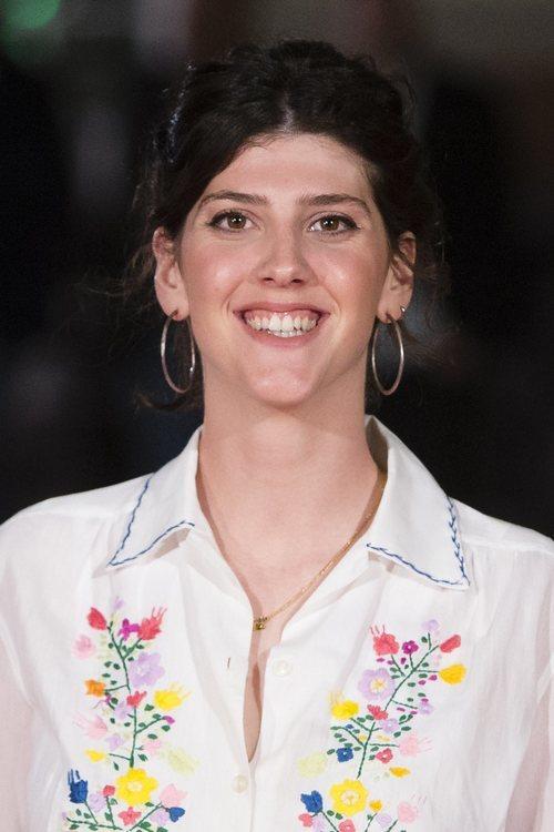 Sara Gutierrez sonriente en el festival de Málaga 2018