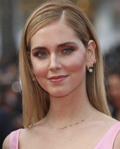 Chiara Ferragni con un maquillaje brillante en el Festival de Cine de Cannes 2018