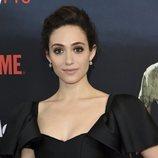Emmy Rossum con un recogido en la campaña hacia los Emmy 2018