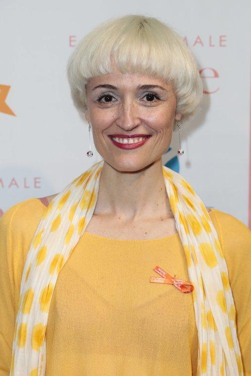Laura Pamplona ocn el pelo corto en un evento contra el cáncer de piel 2018