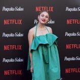 Miranda Makaroff con una sombras rosas en la premiere de las segunda temporada de 'Paquita Salas' 2018