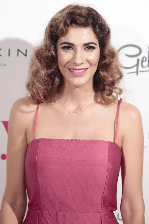 Cecilia Gessa con el cabello rizado en la inauguración de la Mercedeces-Benz Fashion Week en Madrid 2018