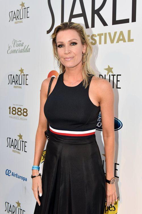 Nicole Kimpel con un labial con brillo en el Festival Festival Starlite en Marbella 2018