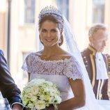 Magdalena de Suecia, en el día de su boda