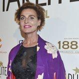Antonia Dell'Atte  con un labial ros chicle en el Festival Starlite en Marbella 2018