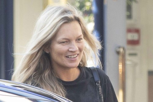 Kate moss sorprendida sin maquillar en Londres