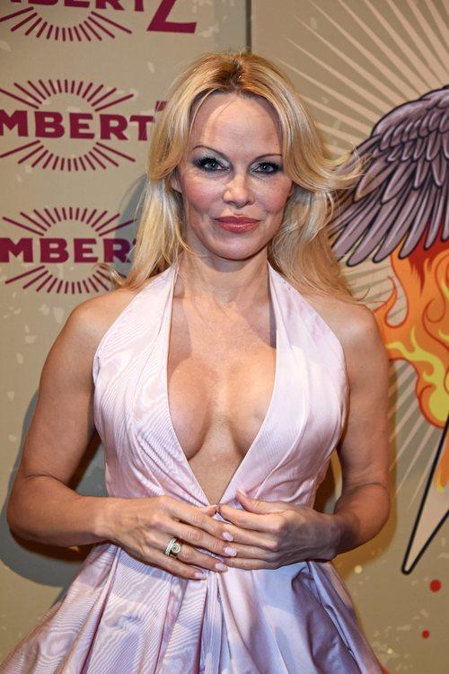 Pamela Anderson rubia y con el pelo suelto