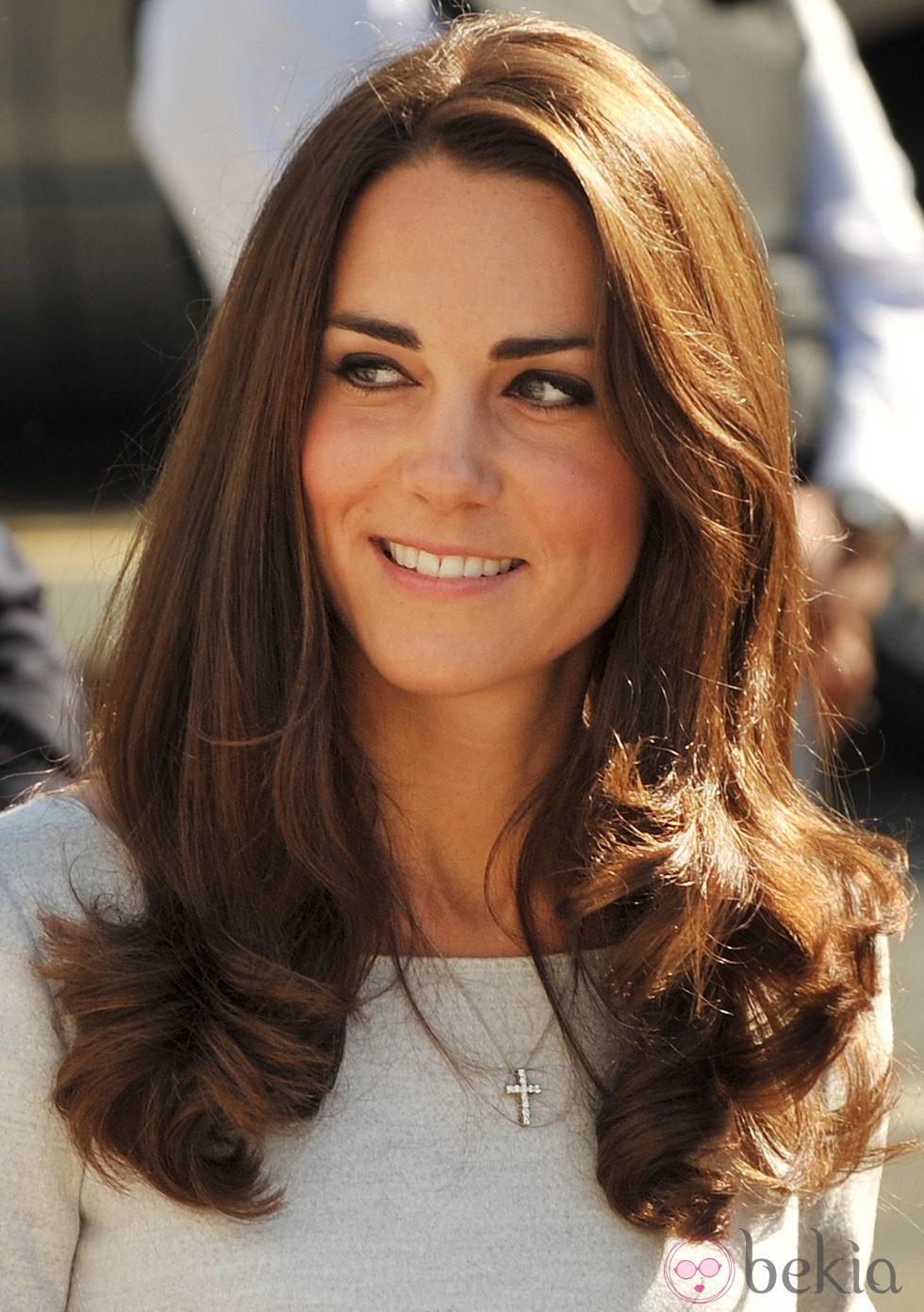 Kate Middleton con eyeliner y puntas marcadas
