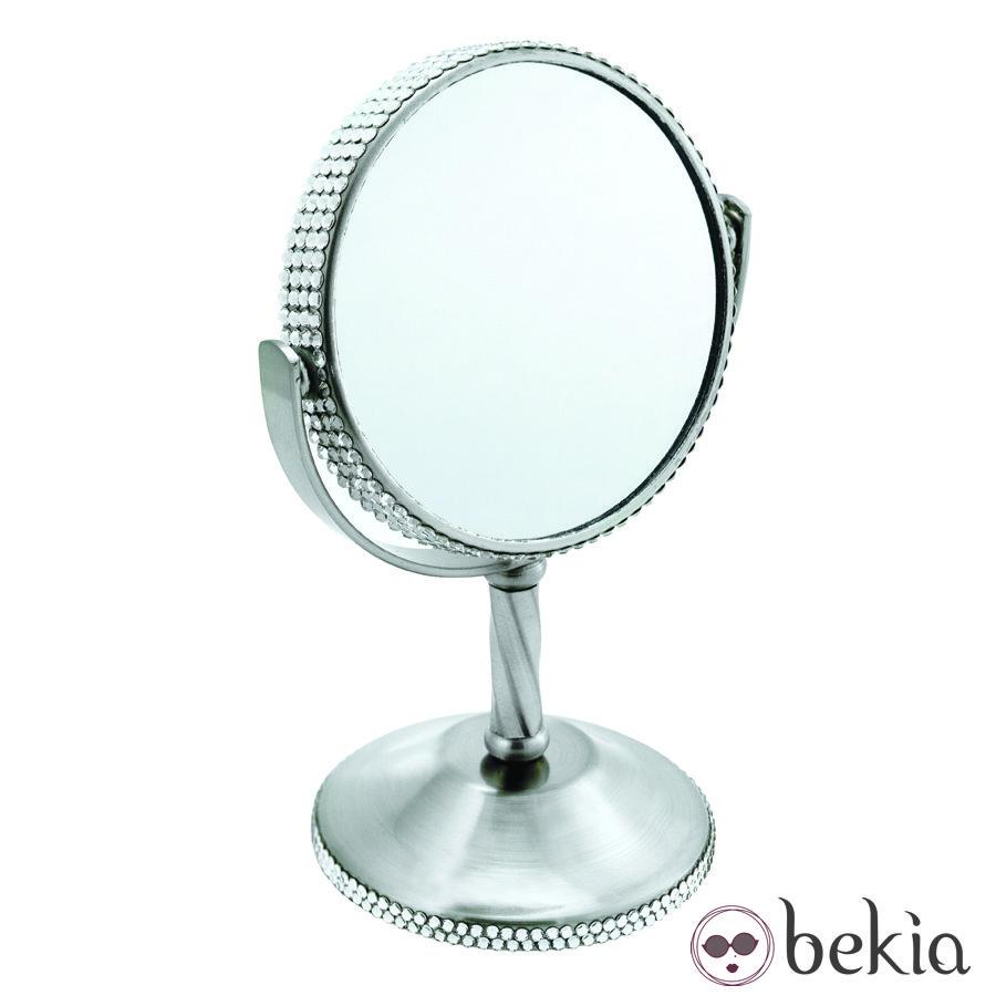 Espejo Tweezerman con cristales de Swarovski en blanco