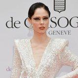 Coco Rocha con mirada dramática en la fiesta de Grisogono en Cannes 2019