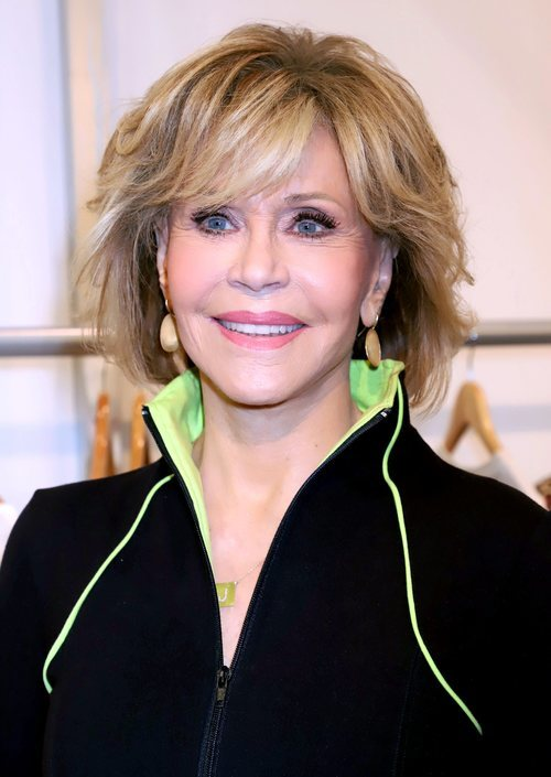 Jane Fonda presenta su nuevo proyecto de ropa deportiva en la Convención Magic 2019