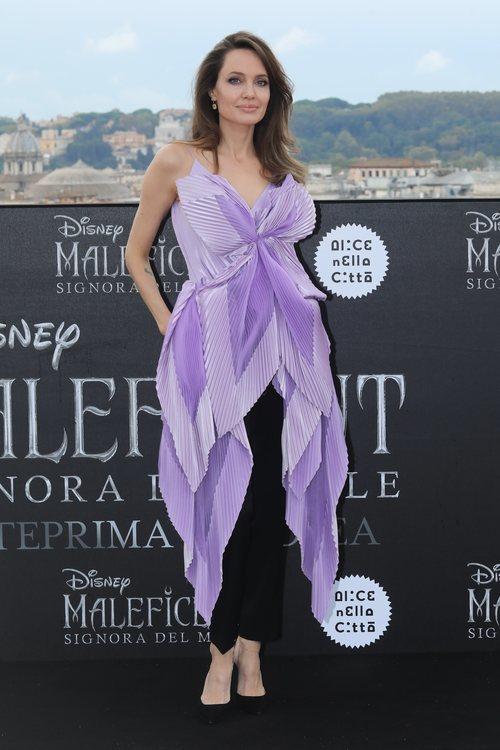Angelina Jolie en la presentación de 'Maléfica' en Roma
