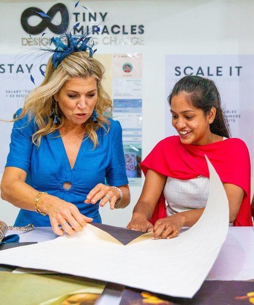 La Reina Máxima de Holanda completamente despeinada en India