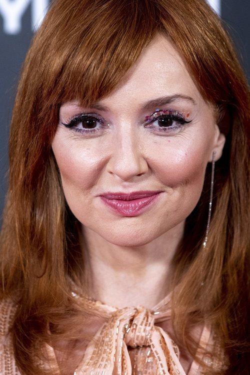 Cristina Castaño con ojos purpurina en los Premios InStyle 2019