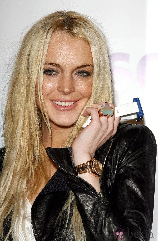 Lindsay Lohan antes de operarse los labios