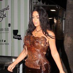 La melena lacia ondulada de Kim Kardashian